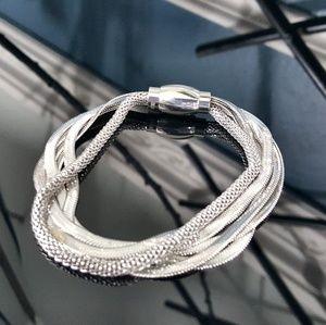 Herringbone n Mesh Multi Strand Bracelet